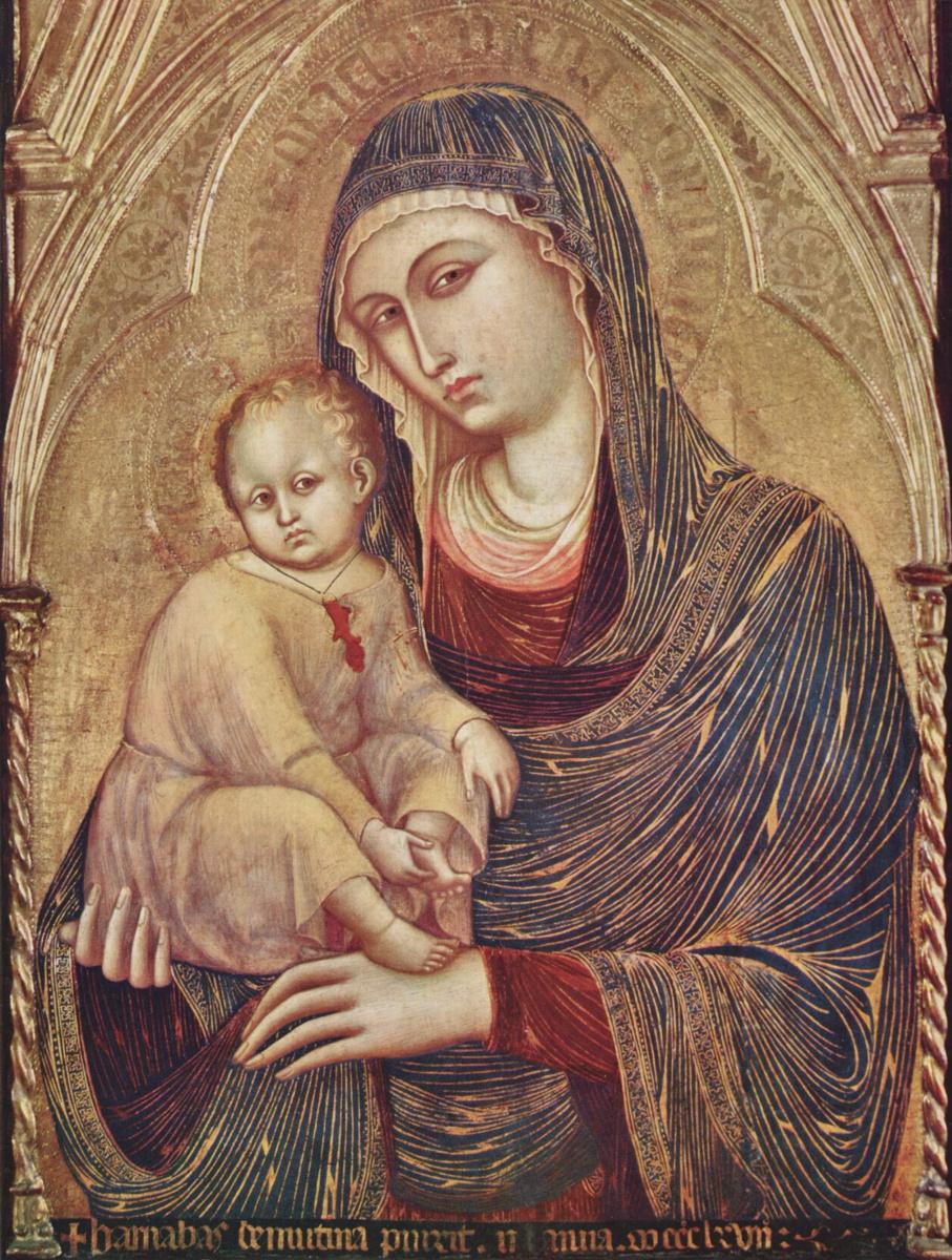 Барнаба да Модена. Мария с младенцем