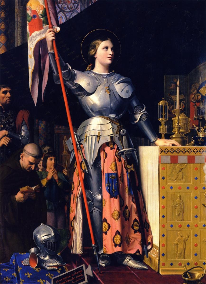 Жан Огюст Доминик Энгр. Жанна Дарк на коронации Карла VII в Реймском кафедральном соборе в 1429 году