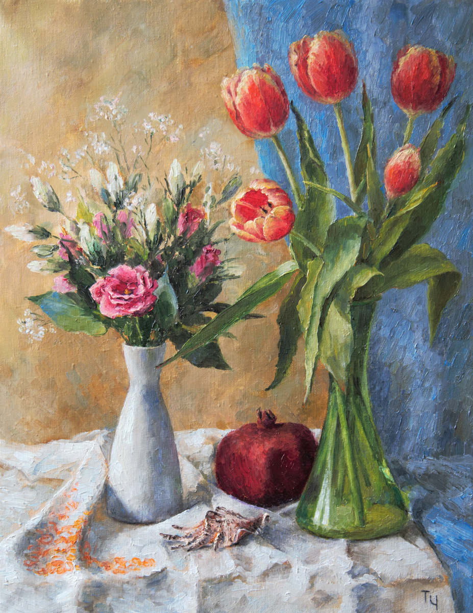 Tatyana Chekkasova. March flowers