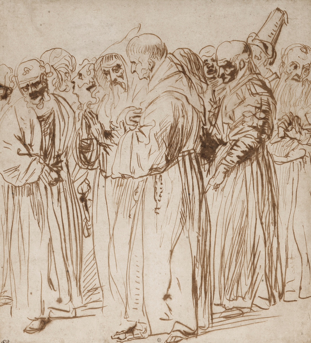 Ян Ливенс. Группа монахов