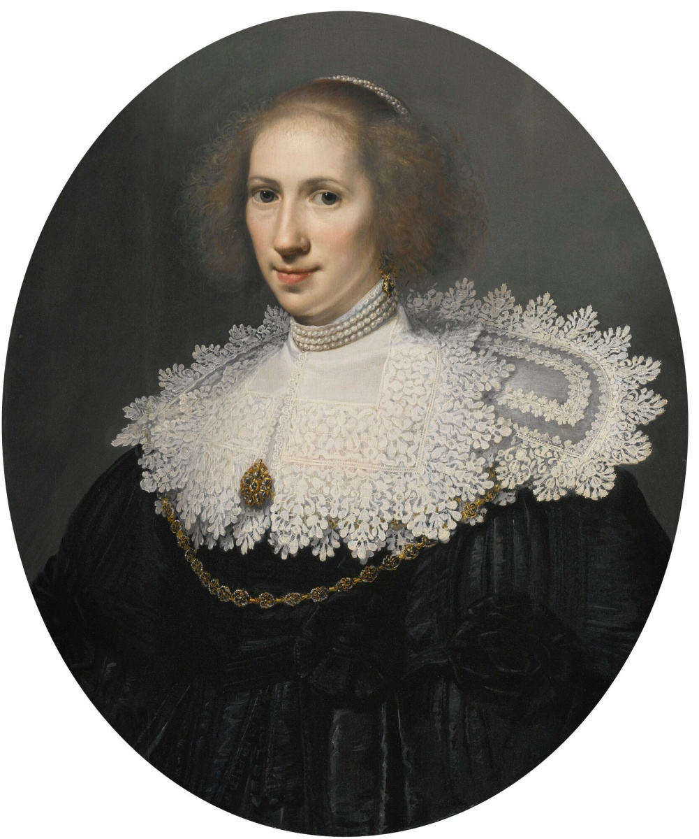 Janson Mihil van Mireveld. Portrait of a lady in a lace collar