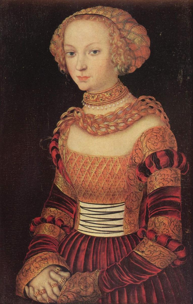 Лукас Кранах Старший. Портрет молодой дамы