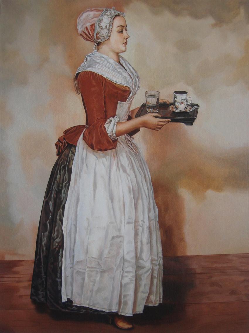 "Tatyana Titova. Copy of the painting J. E. Lyotard ""chocolate"""