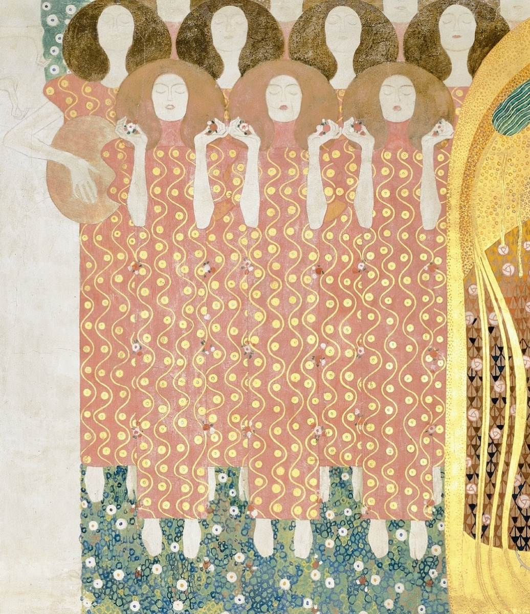 Gustav Klimt. Beethoven Frieze: Choir of Paradise (fragment)