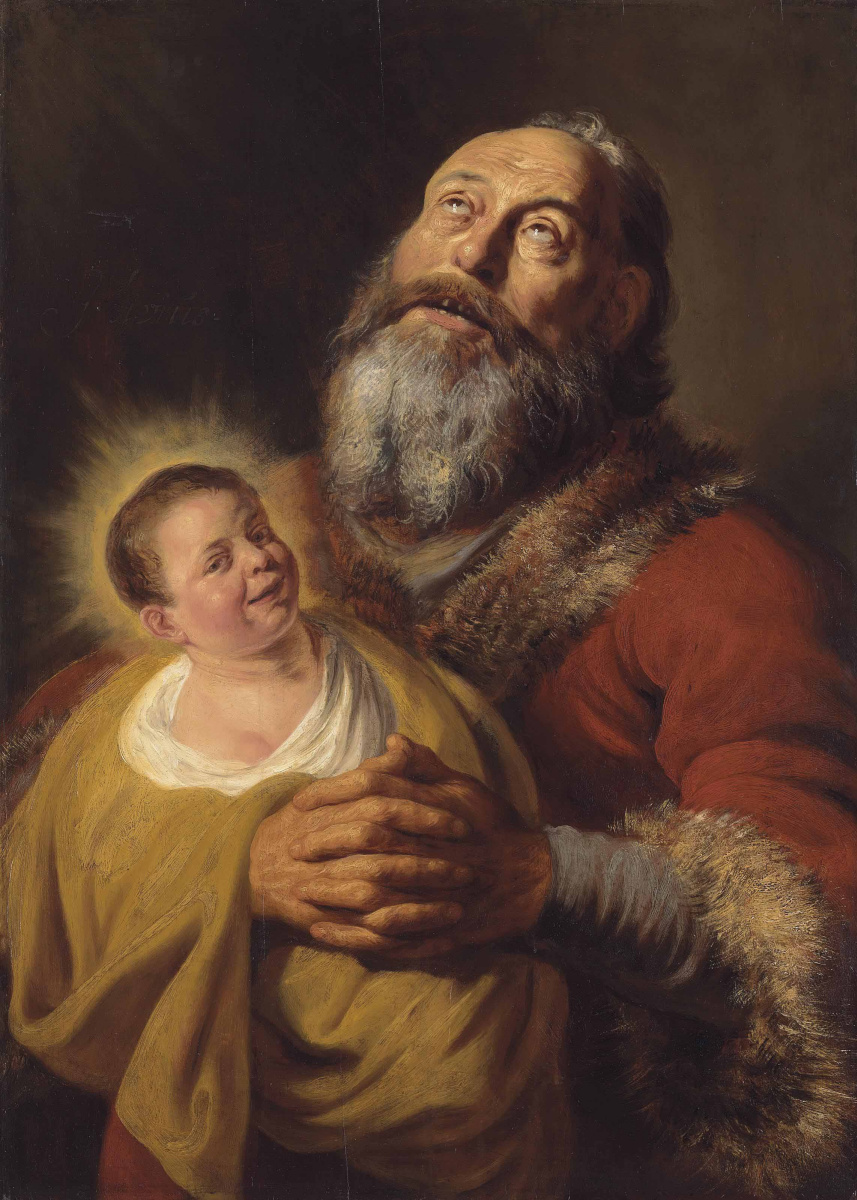 Ян Ливенс. Святой Симеон с младенцем Христом