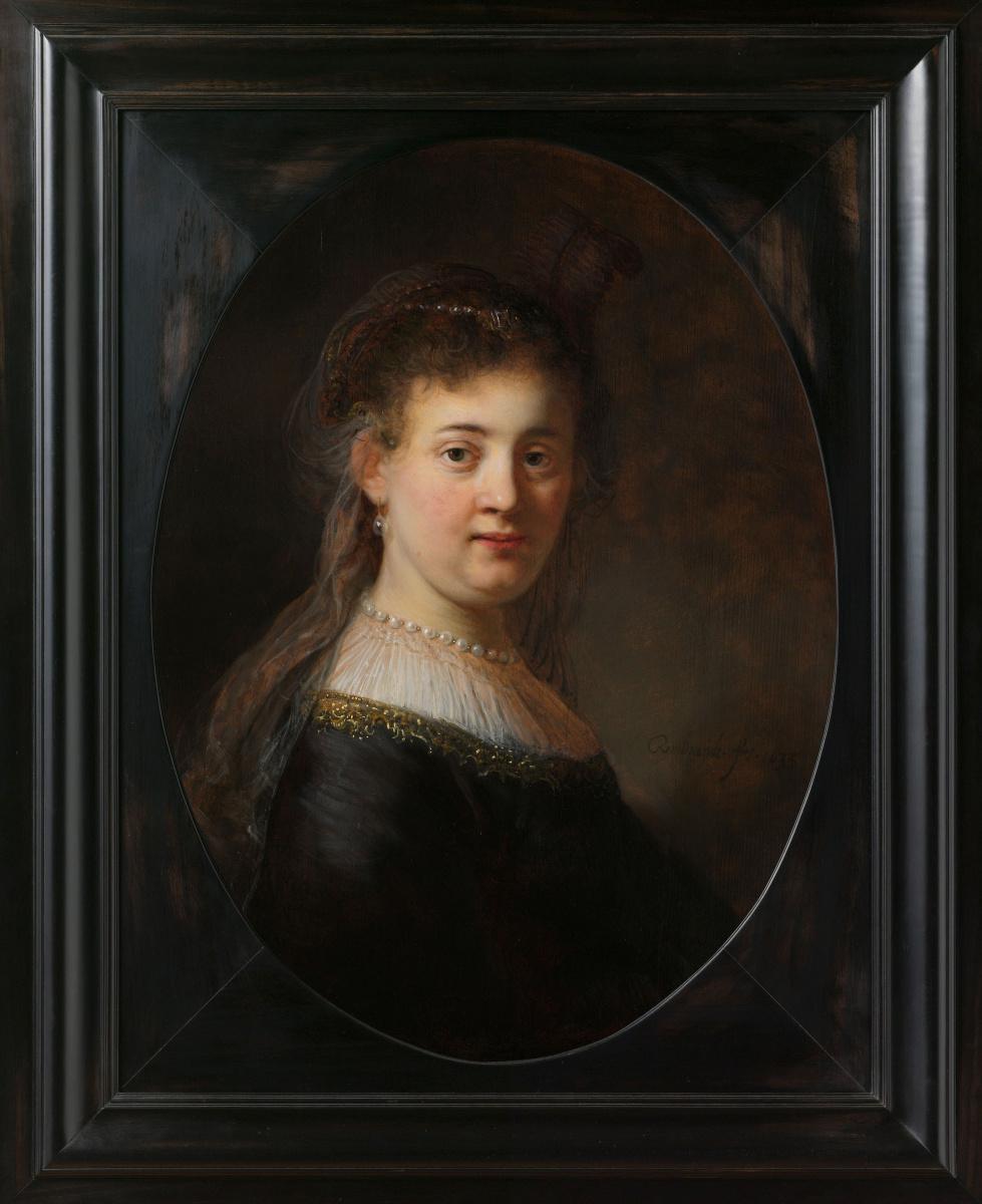 Рембрандт Харменс ван Рейн. Портрет молодой женщины в причудливом костюме