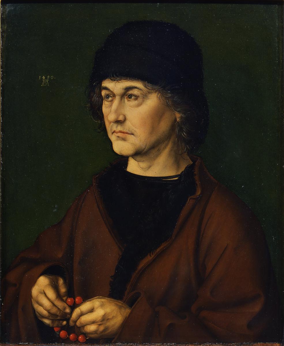 Albrecht Dürer. Albrecht dürer the elder with a rosary