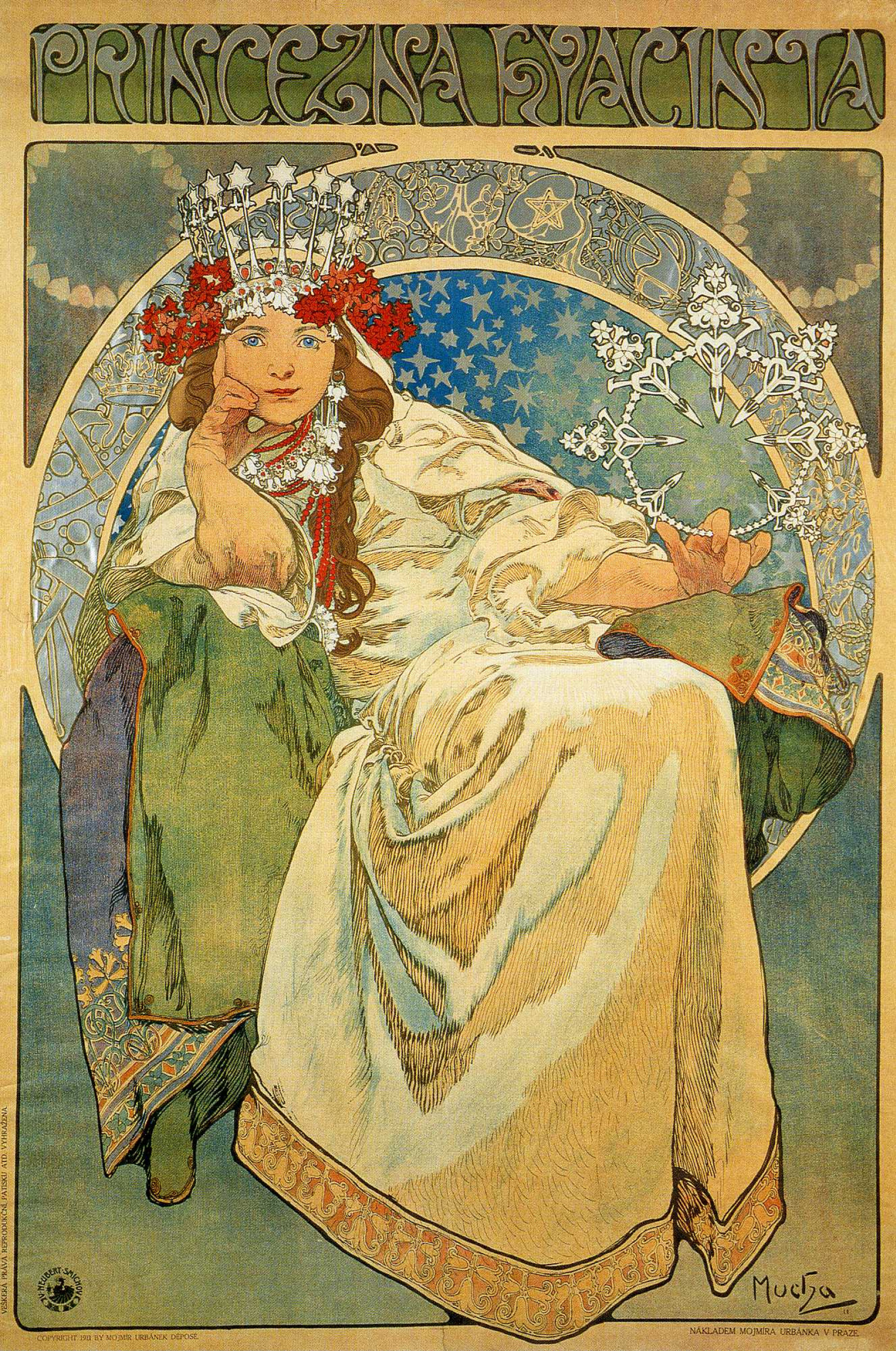 "Alfons Mucha. The poster for the ballet-pantomime ""Princess Hyacinth"""