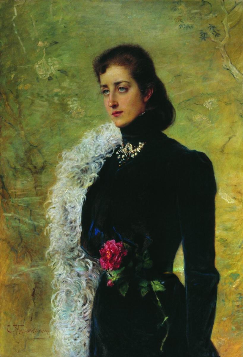 Константин Егорович Маковский. Портрет В. В. Бахрушиной, урожденной Носовой