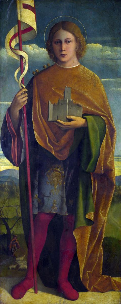 Да Сантакрок Джироламо. Святой с крепостью и знаминем