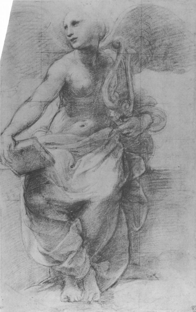Рафаэль Санти. Аллегория Поэзии. Эскиз фрески дворца понтифика в Ватикане