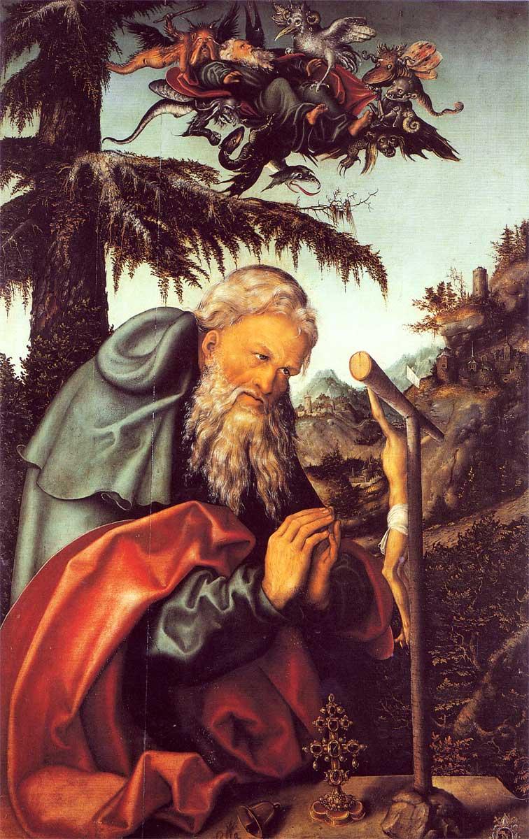 Лукас Кранах Старший. Святой Антоний