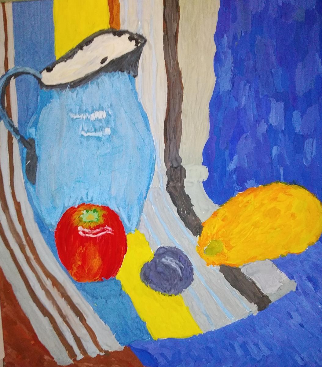 Zina Vladimirovna Parisva. Still life with lemon
