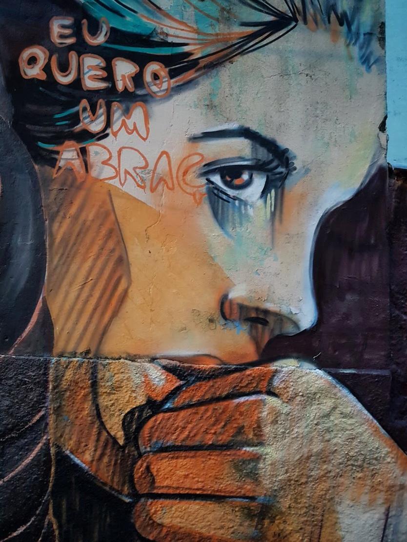 Alice Pascini. Mural in Sao Paulo
