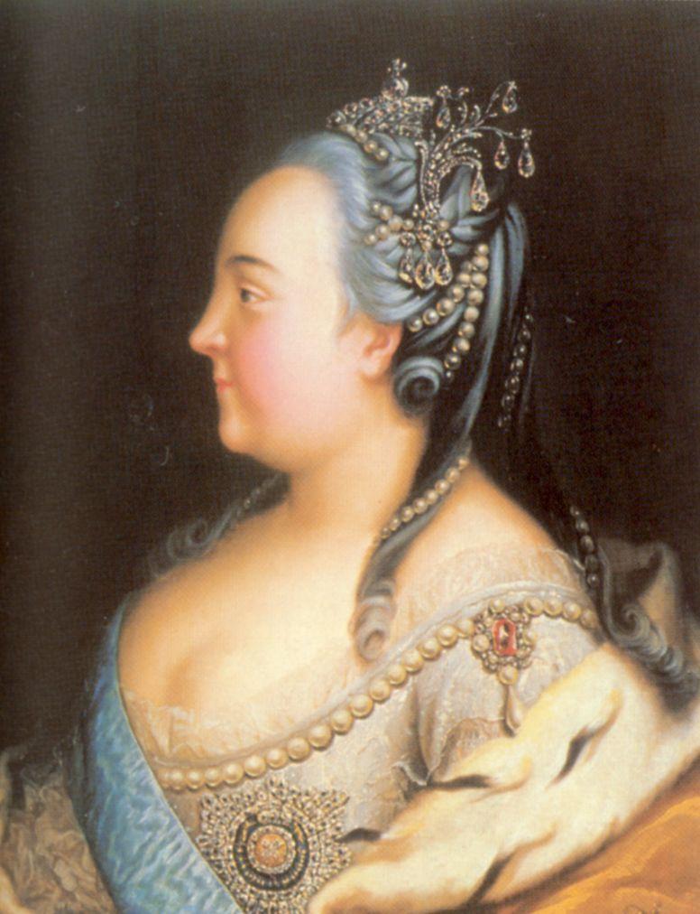 Henry Buchholz. Portrait of Empress Elizabeth in pearls