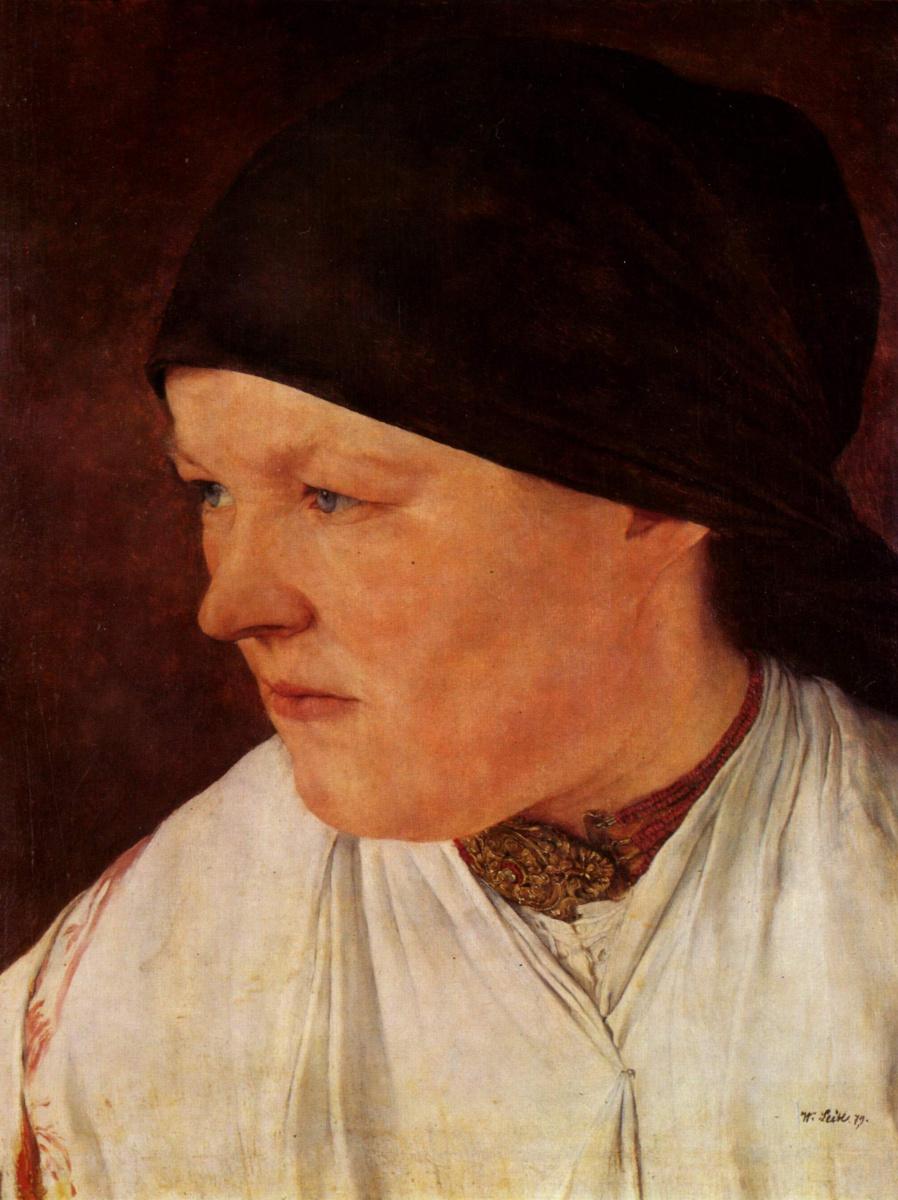 Вильгельм Мария Хубертус Лайбль. Голова молодой крестьянки