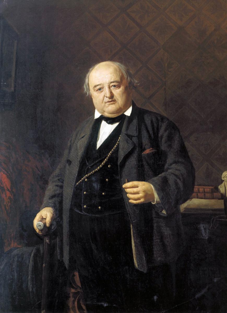 Николай Васильевич Неврев. Портрет М. С. Щепкина. 1862