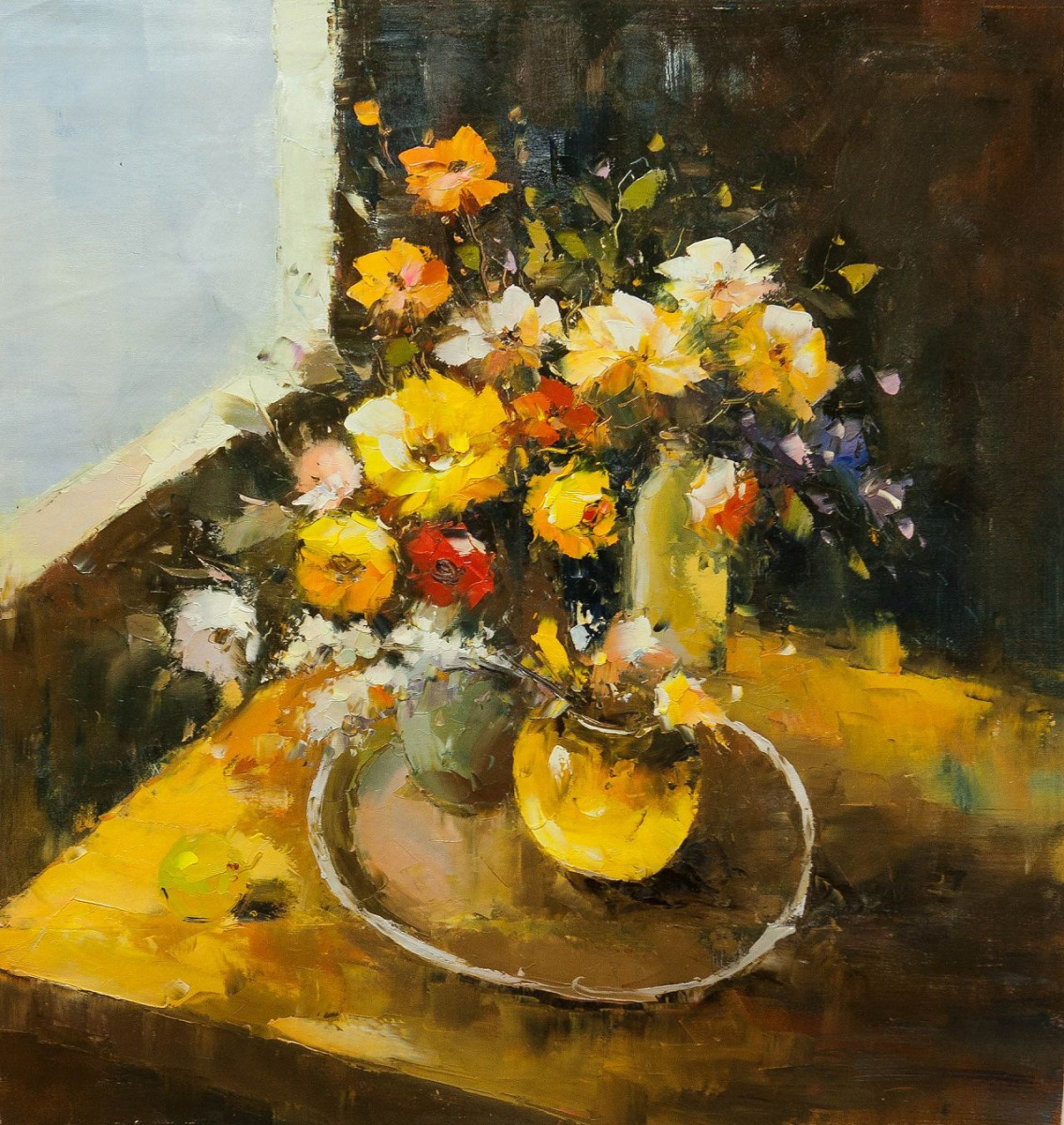 (no name). Still life in yellow tones