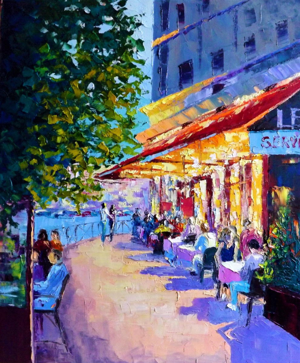 Sergey Yurievich Efremov. Warm evening on the boulevard