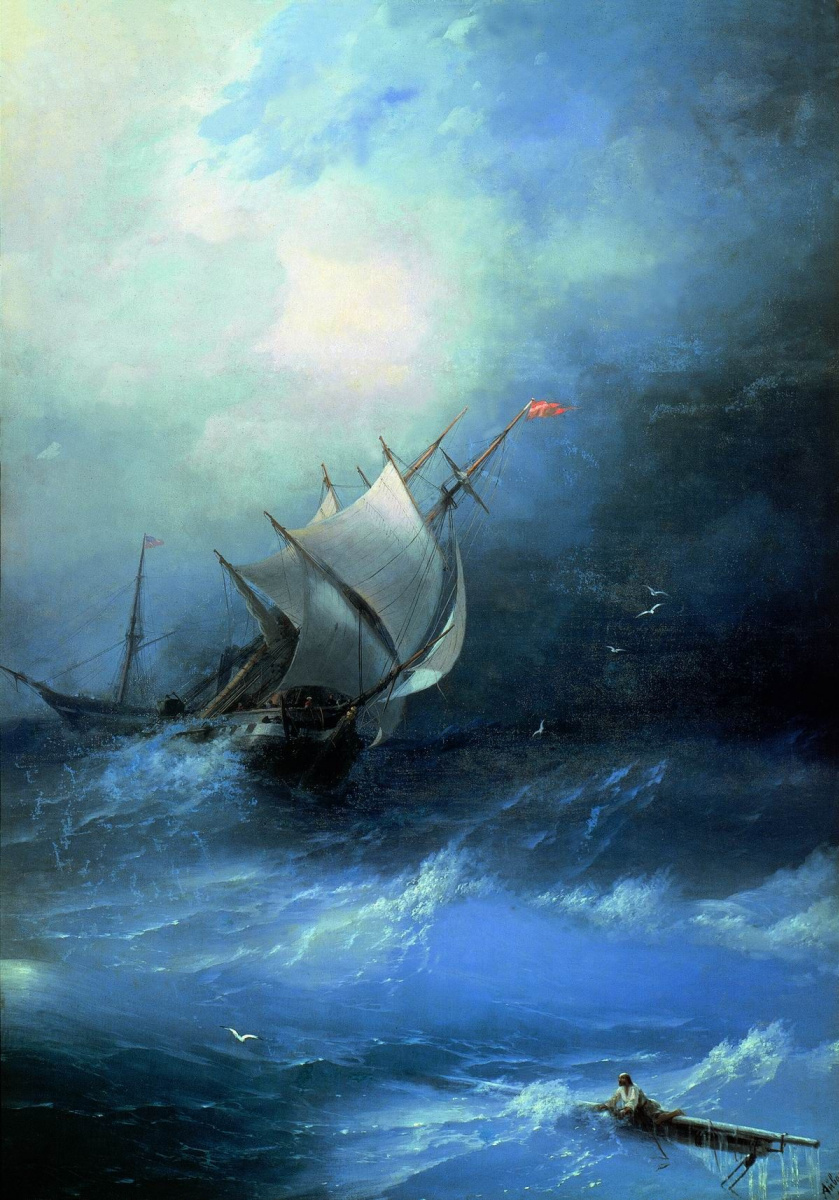 Ivan Aivazovsky. Storm on the Arctic ocean