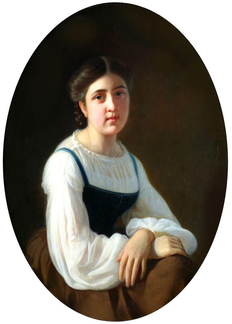 Сергей Константинович Зарянко. Портрет девушки. 1850-е