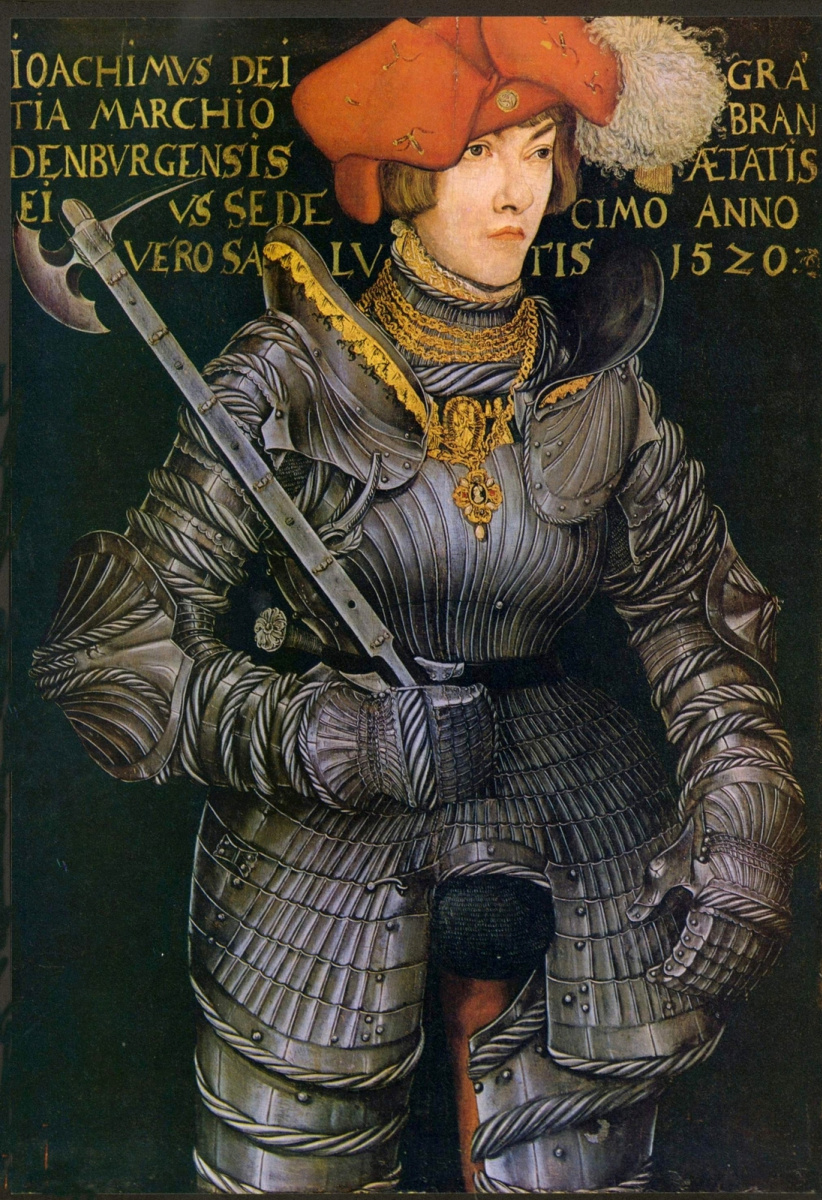 Лукас Кранах Старший. Портрет избранного принца Иоахима II