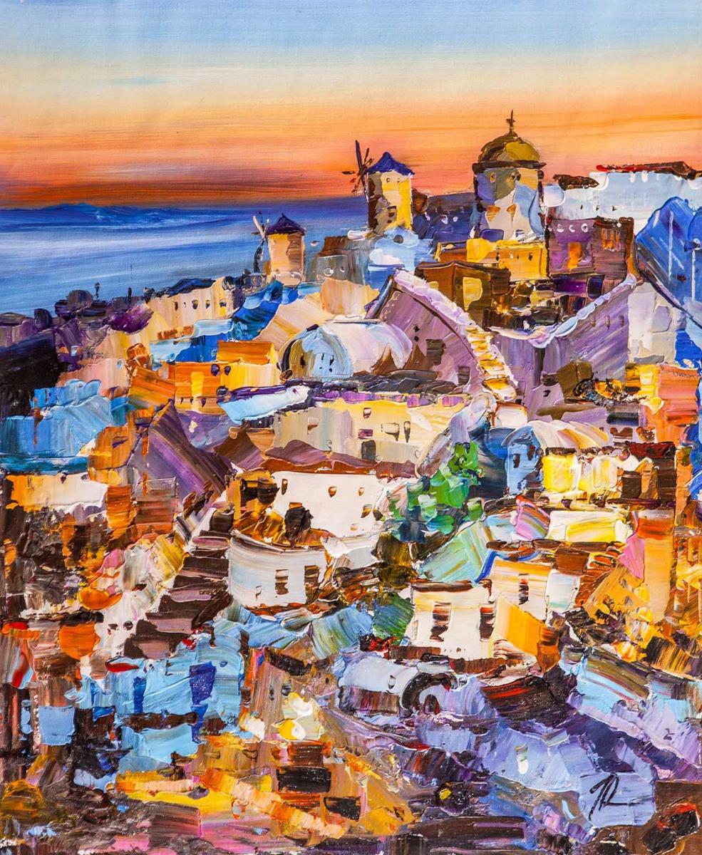 Jose Rodriguez. Sunset on Santorini N2