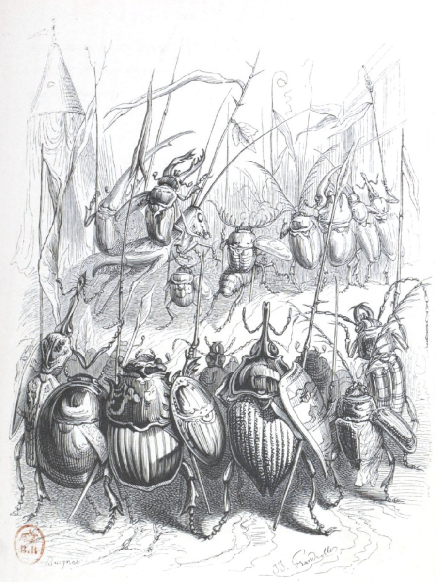 "Jean Inias Isidore (Gerard) Granville. Cavalry of Prince Shmel. ""Scenes of public and private life"""