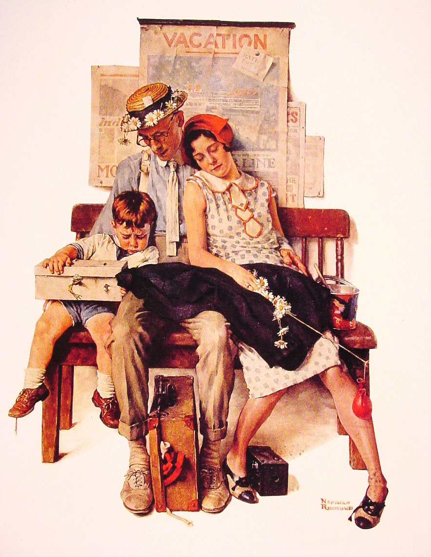 Norman Rockwell. The family returned home from vacation