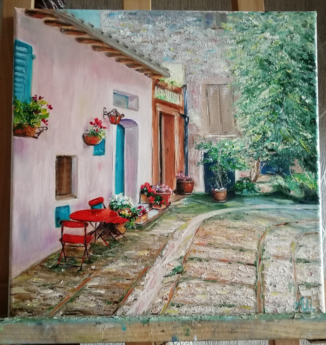 Alena Shaevskaya. Italian courtyard
