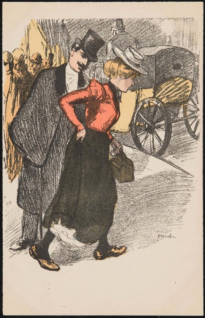 Theophile-Alexander Steinlen. Couple on a walk