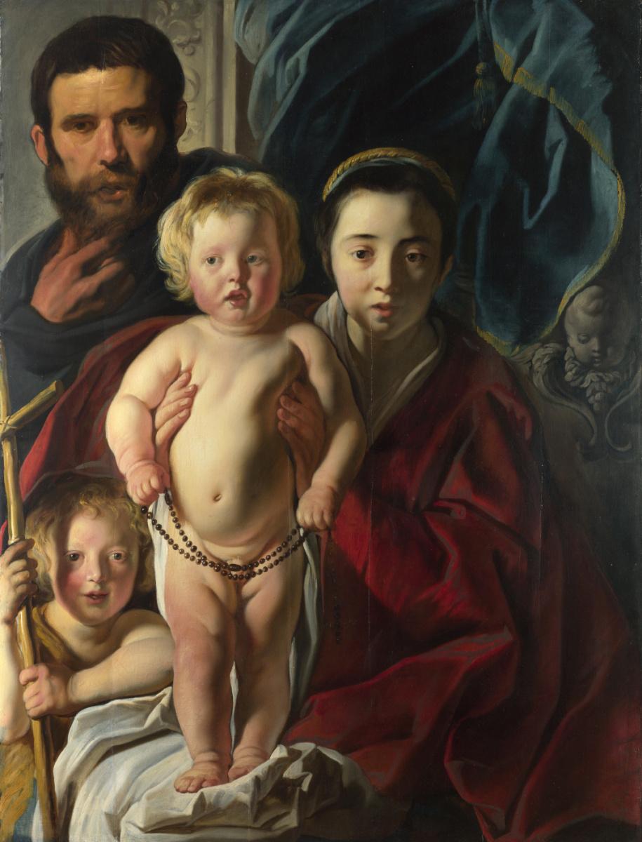 Якоб Йорданс. Святое семейство и Святой Иоанн Креститель