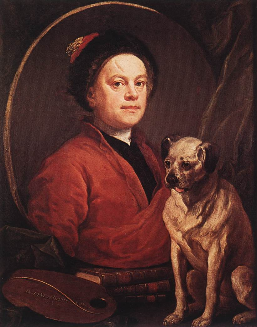 William Hogarth. The painter and his Pug