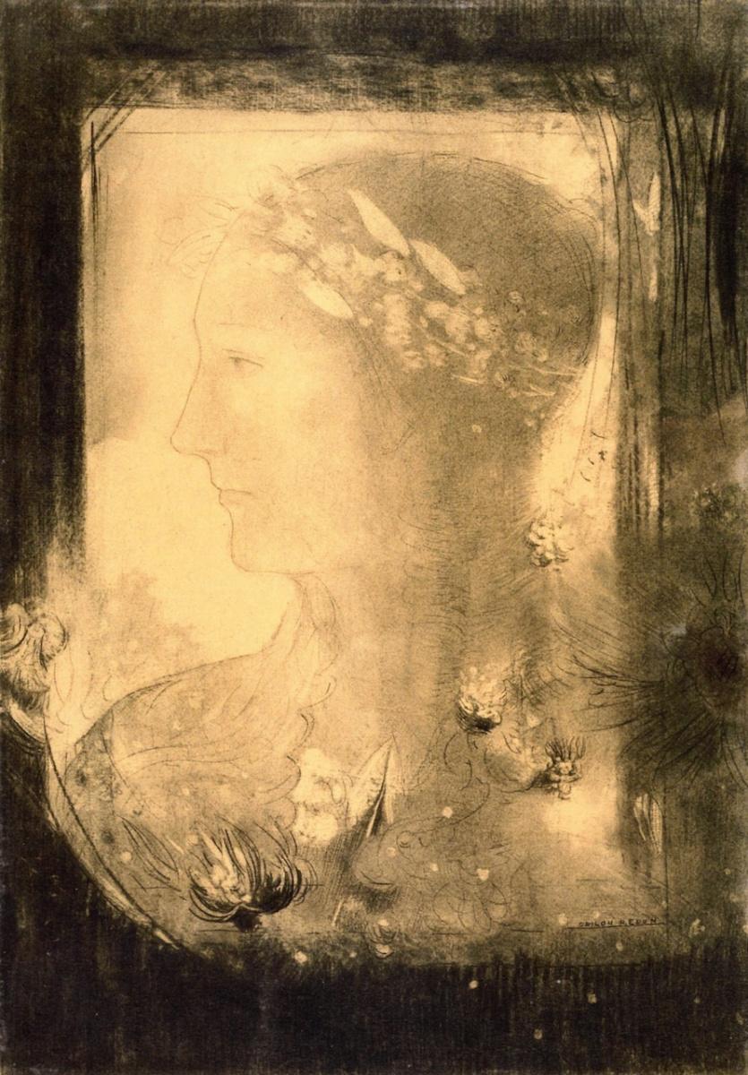 Одилон Редон. Голова женщины