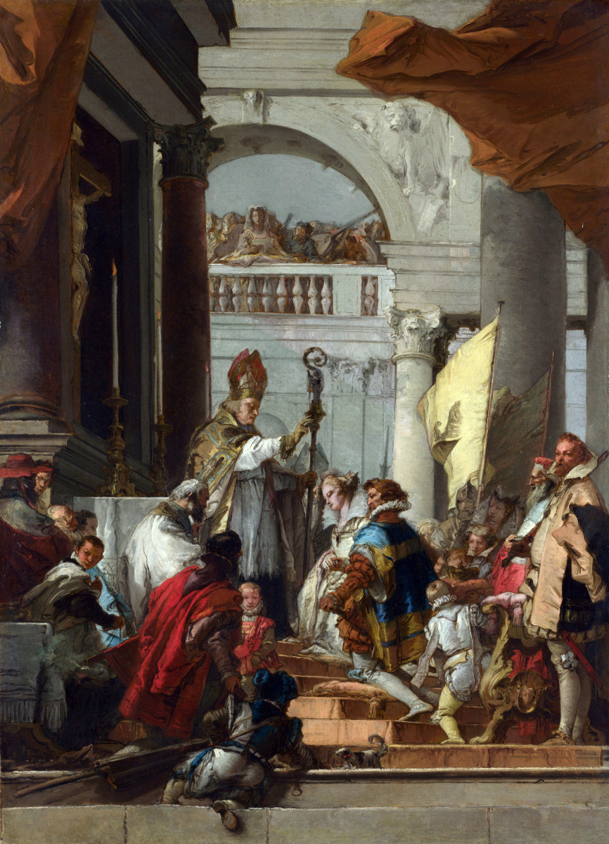 Giovanni Domenico Tiepolo. The Marriage Of Frederick Barbarossa