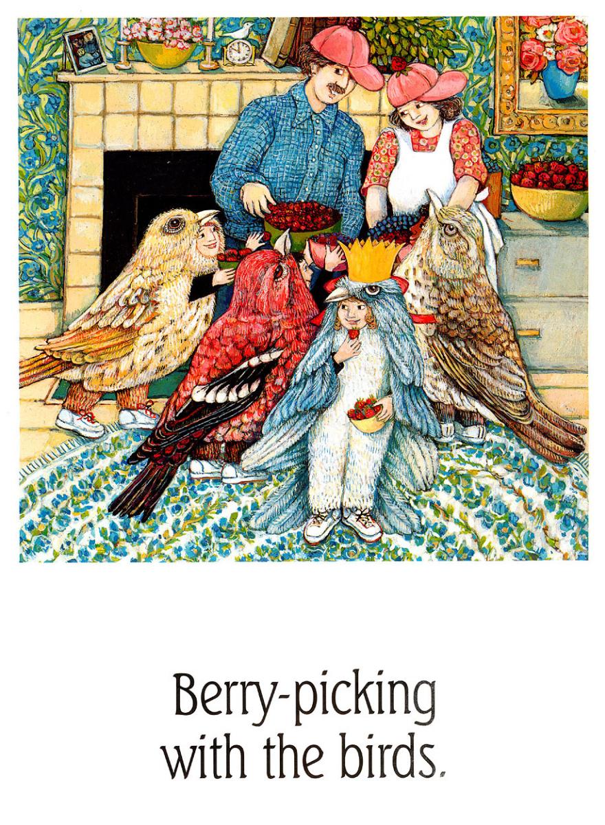 Анита Лобель. Сбор ягод с птицами