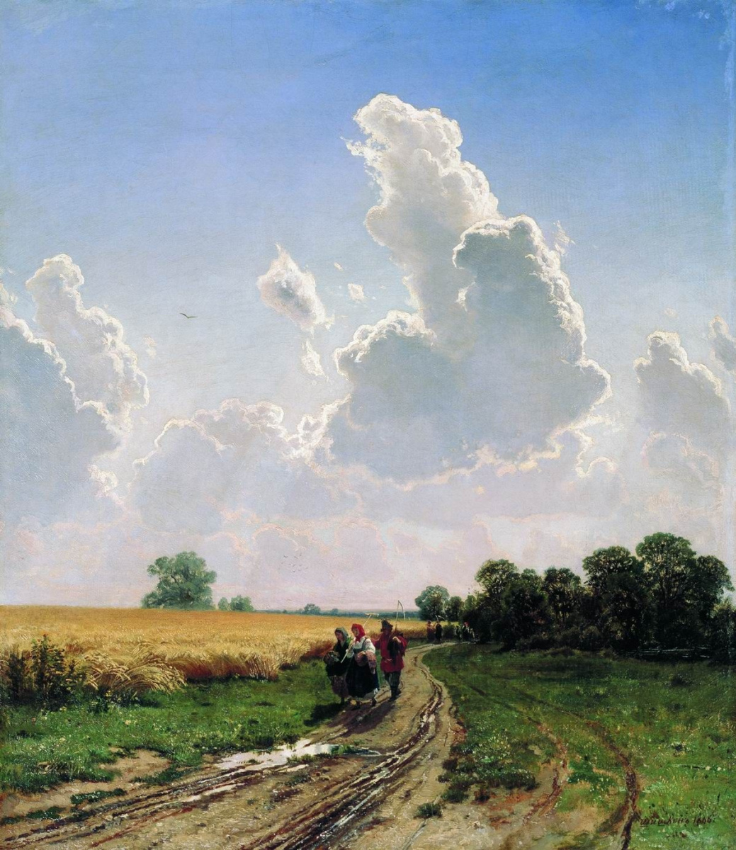 Ivan Ivanovich Shishkin. Noon. The Surroundings Of Moscow. Brattsevo