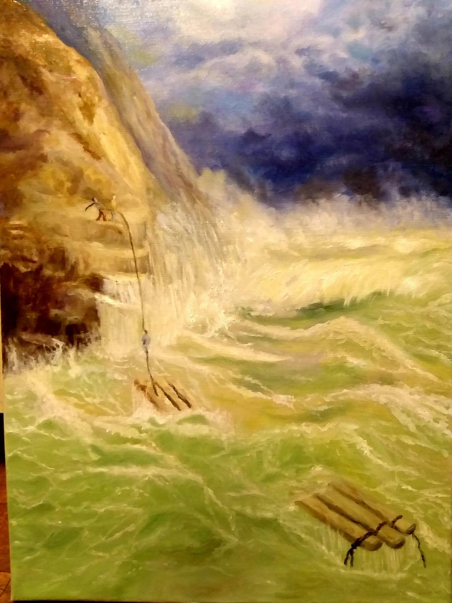 Валерия Костромина. Спасение в  бурю на  море