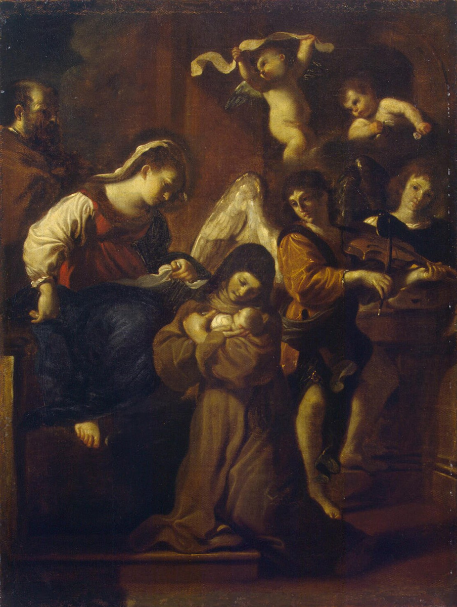Джованни Франческо Гверчино. Видение Святой Клары