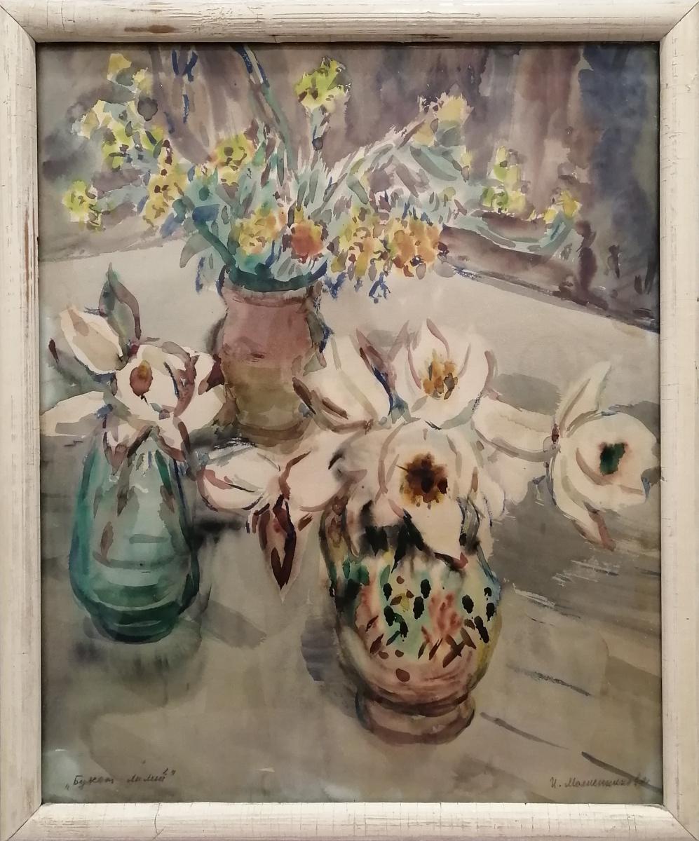 Irina Nikolaevna Maslennikova. Bouquet of lilies