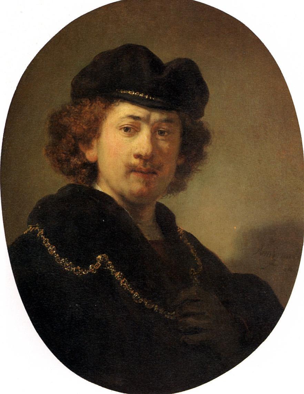 Рембрандт Харменс ван Рейн. Автопортрет с золотой цепью