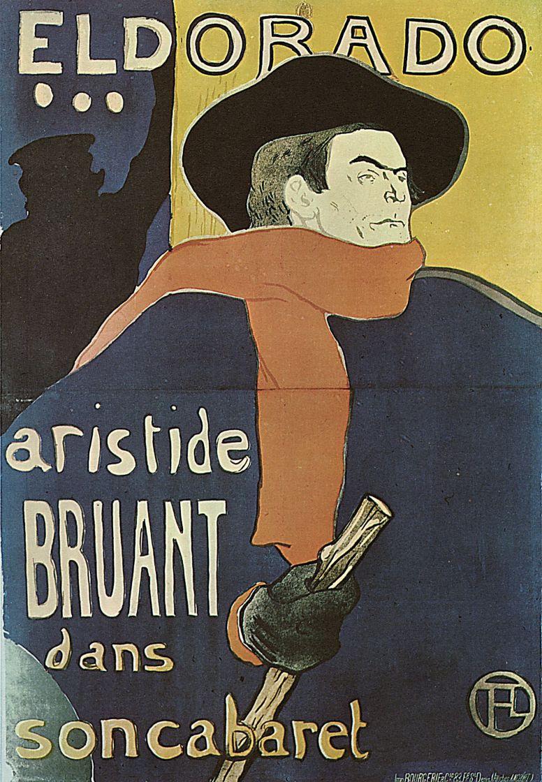 """Анри де Тулуз-Лотрек. Плакат """"Брюан в Эльдорадо"""""""