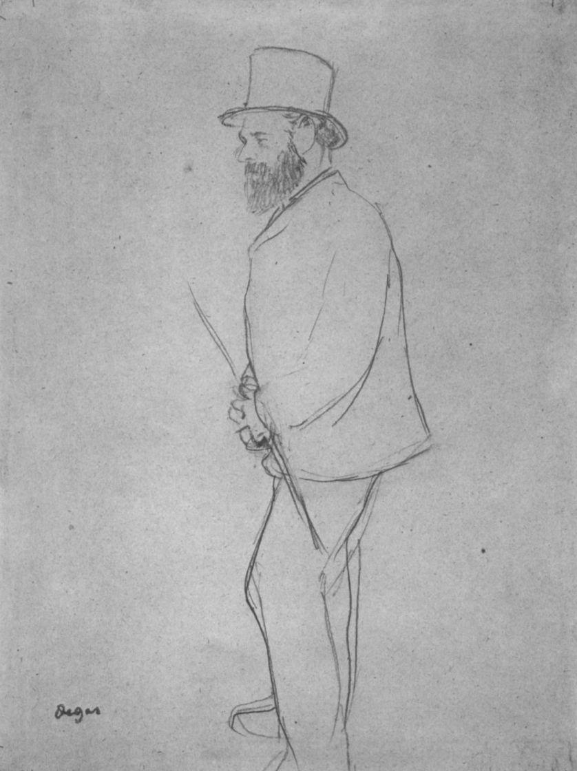 Эдгар Дега. Портрет Эдуарда Мане на скачках