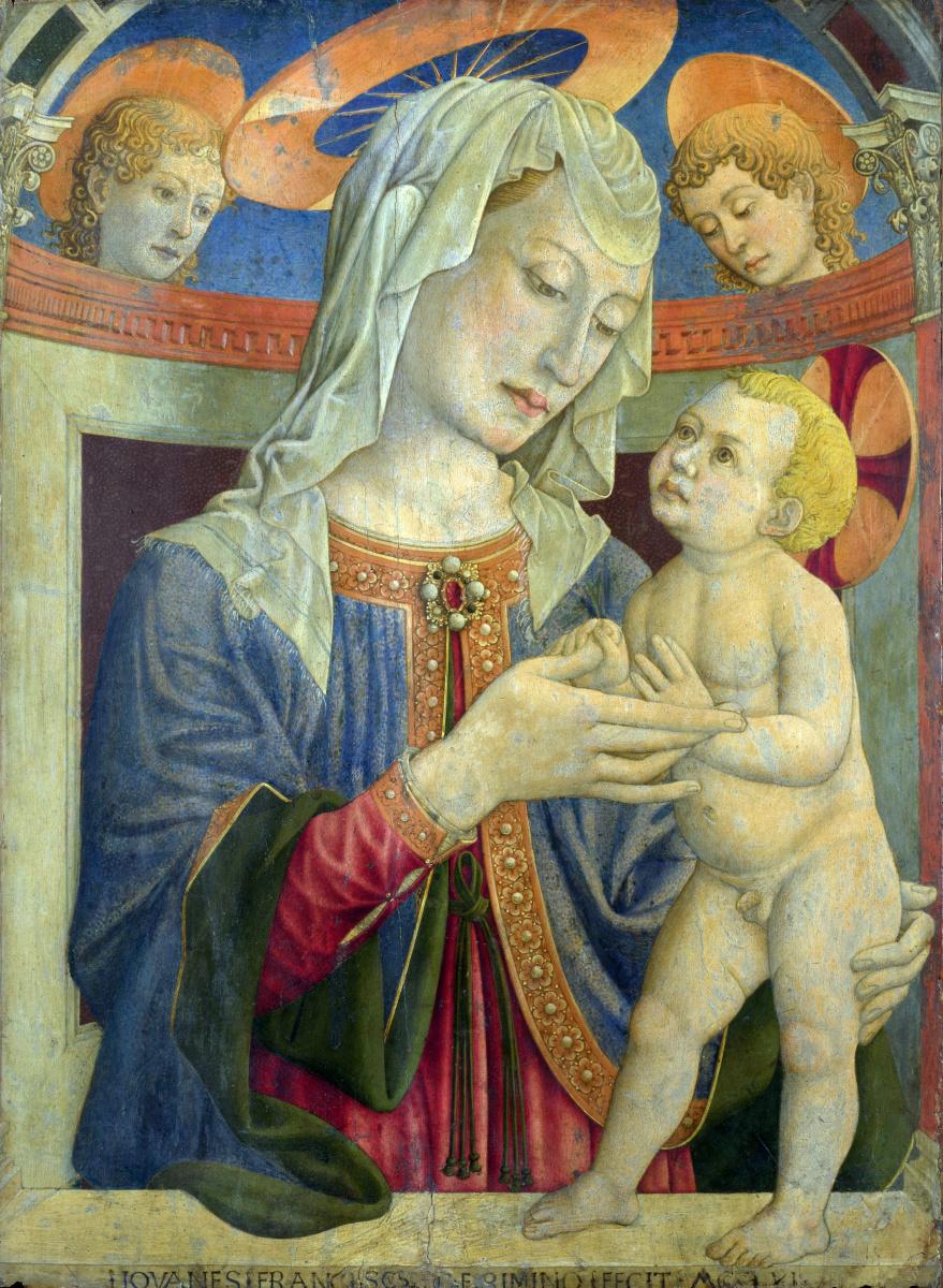 Джованни Франческо да Римини. Дева с младенцем и двумя ангелами