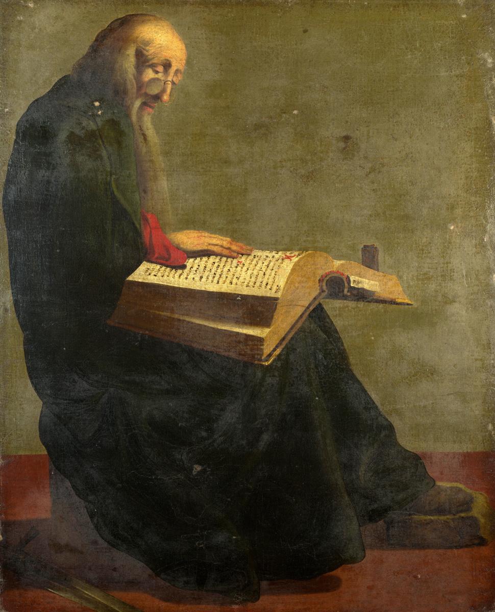 Якова де Гхеун ЙЙЙ После. Свяятой Петр читает сидя