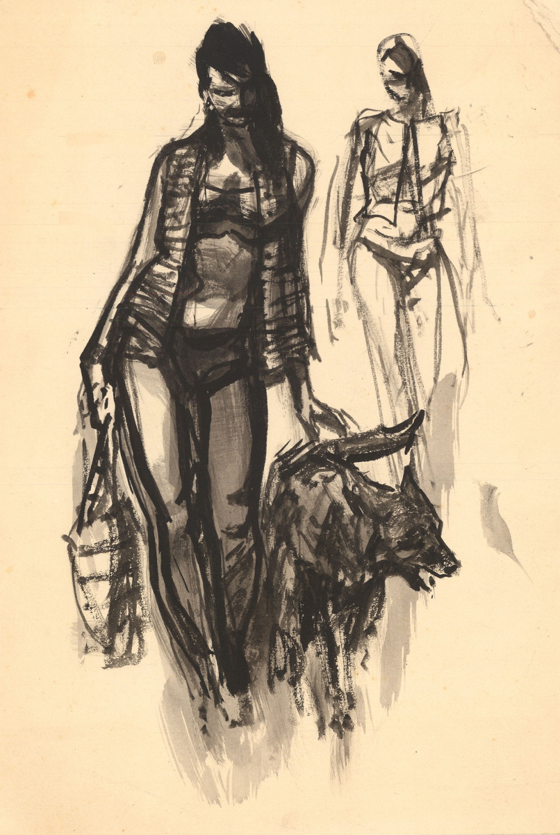 Аркадий Александрович Лурье. Женщина с собакой. 1960-е – 1970-е