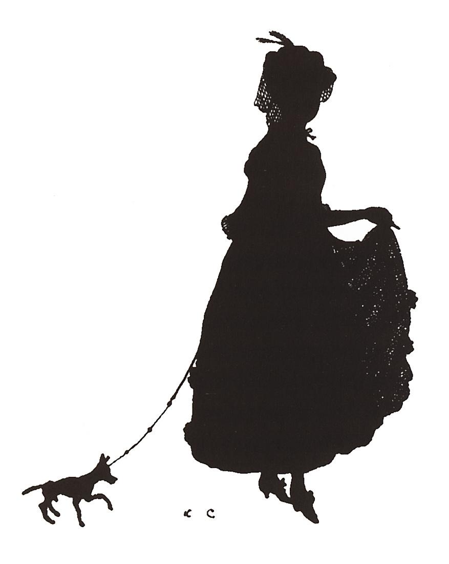 "Konstantin Somov. The lady with the dog. The screensaver ""Golden fleece"". 1906, No. 2"