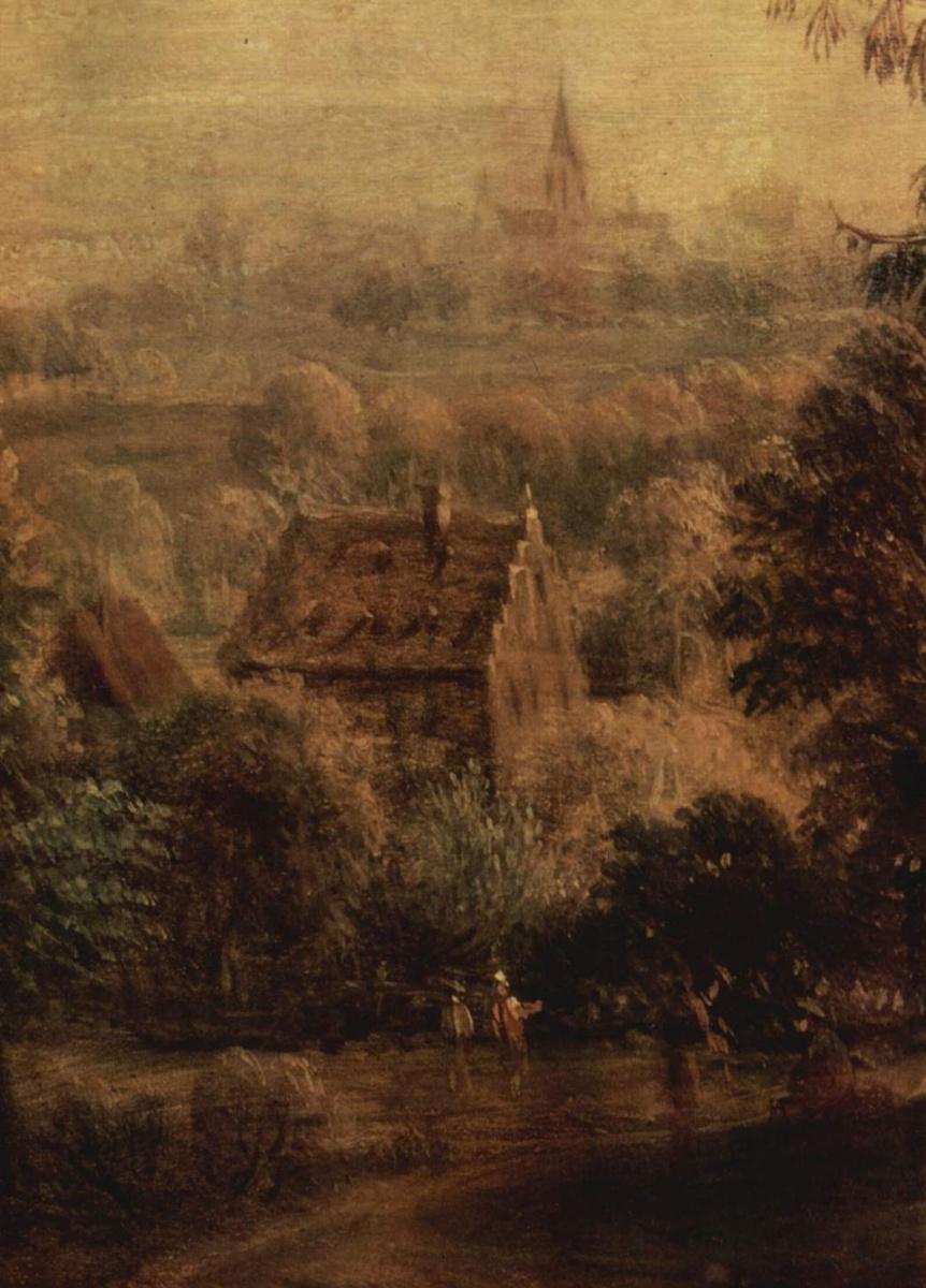 Христиан Георг Шютц. Горный пейзаж, фрагмент