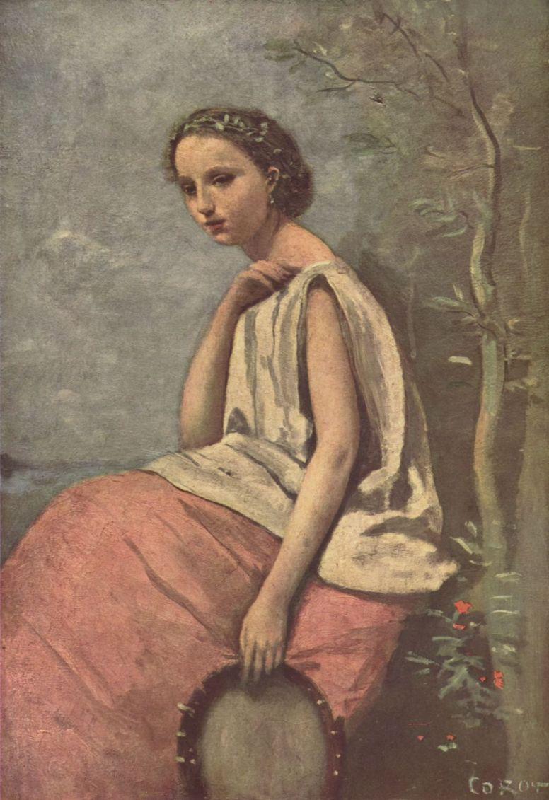 Камиль Коро. Девушка с тамбурином