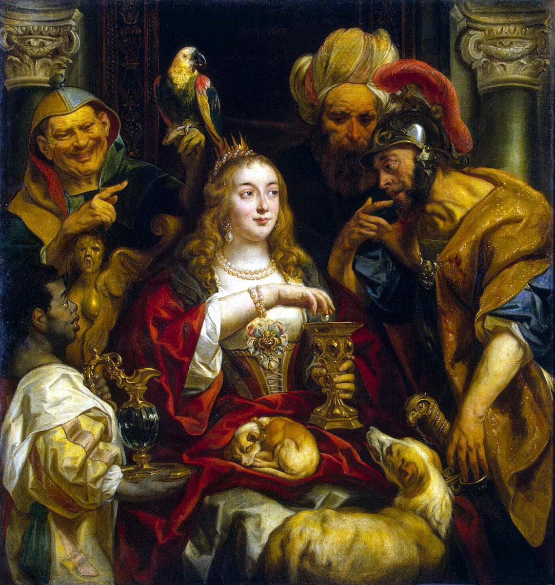 Jacob Jordaens. Cleopatra's Feast